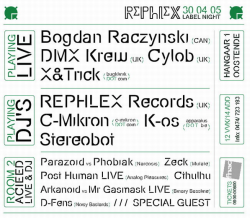 rephlex labelnight 30-04-2005