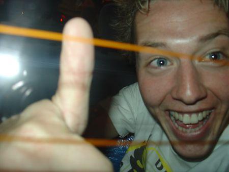 Harold in de achterbak! :-)