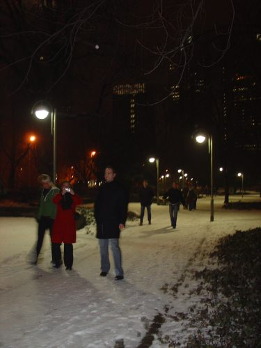 Sneeuw in Frankfurt