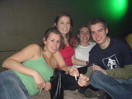 Maren, Caroline, Gijs en Michael