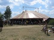 De tent waar de aftershow plaatsvond