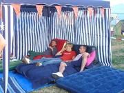 Three dj's in a tent ;-)