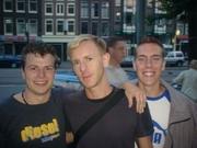 Vlnr.: Chris, Richie Hawtin en Gijs! :D