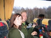Het was al gezellig in de bus
