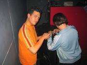 Sandro en Ruudje met dezelfde hobby
