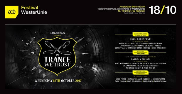 In Trance We Trust ADE Festival 2017